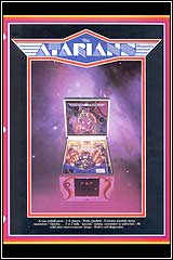 Atarians Pinball Game Catalog Sheet